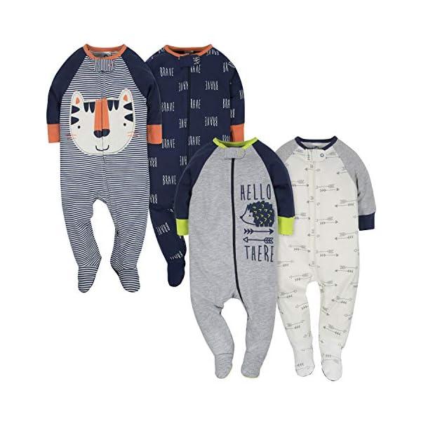 Gerber Baby Boys' 4 Pack Sleep 'N Play Footie