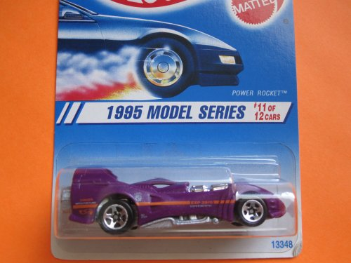 Limited Edition Rocket (1994 - Mattel - Hot Wheels - 1995 Model Series - Power Rocket - Purple - #11 of 12 Cars - 1:64 Scale Die Cast - MOC - Out of Production - Limited Edition - Collectible)
