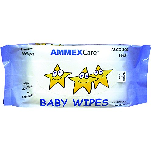 AMMEX Baby Wipes - Alcohol Free, Pre-moistened with Aloe Vera and Vitamin E, Baby Wipe Refills (Case of 960) - BWCR