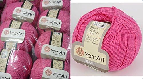 Yarn Art JEANS 35 skeins !! Amigurumi Cotton Yarn Knitting Yarn Yarnart