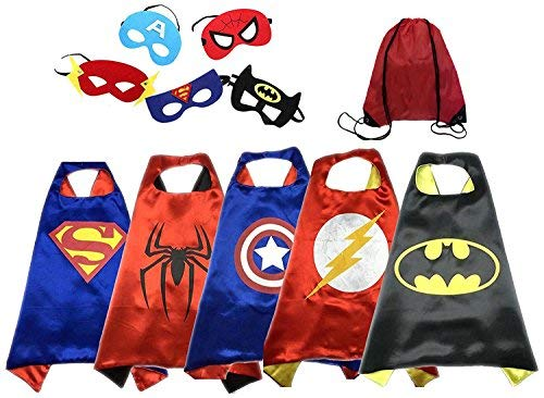Dress up Costumes Cartoon Cape and Mask (5