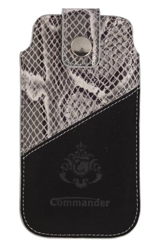 Commander 13088 2Tone Case No.5 für Apple iPhone 5/5C/5S Größe XLS Snake grau