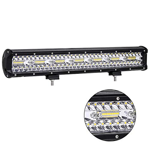 20 Inch LED Light Bar, Zmoon Triple Row LED Driving Lights 420W Spot Flood Combo Beam LED Pods for Truck UTV ATV Jeep Off Road Boat