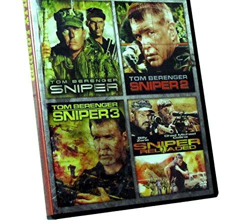All 4 Sniper Movies: Sniper / Sniper 2 / Sniper 3 / Sniper Reloaded - Starring Tom Berenger in One DVD Package