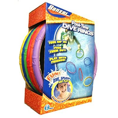 5 X Swimming Pool Diving Rings (Set of 6): Home & Kitchen