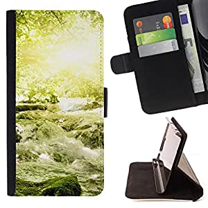 DEVIL CASE - FOR HTC DESIRE 816 - Nature Beautiful Forrest Green 18 - Style PU Leather Case Wallet Flip Stand Flap Closure Cover