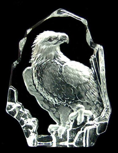 (Engraved Lead Crystal -- Stand Eagle )