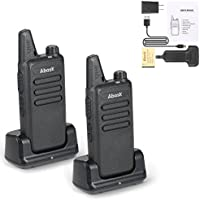 Walkie Talkies, Abask Two Way Radio Rechargeable Dustproof Portable Handheld Long Range Strong Anti-interference Two Way Radio 16-Channel for Outdoor Hiking Camping Activities (2pcs)