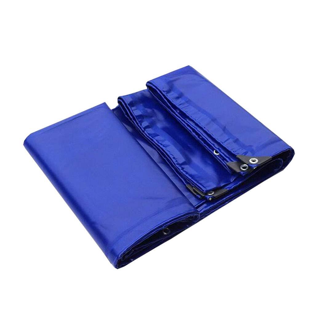 YX-Planen Multi-Purpose Protected Tarpaulin 100% reversibel, wasserdicht und UV-geschützt - Allwetter-PVC-Sonnenschutzplane Blau Zeltblatt - Dicke 0,60 mm, 650 g m²