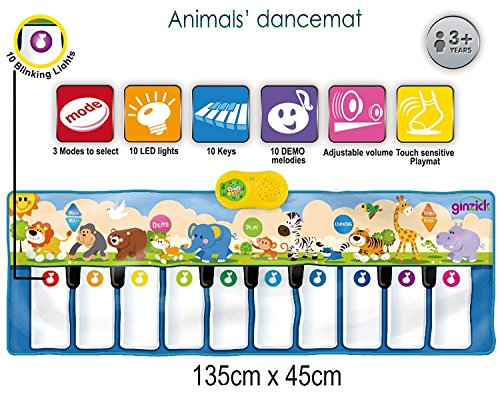 Ginzick Kids Animals Music Piano Fun Dance Mat