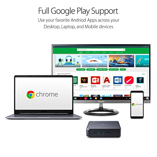 Star Gray 4K UHD Graphics and Power Over Type C Port ASUS CHROMEBOX 3-N019U Mini PC with Intel Core i3