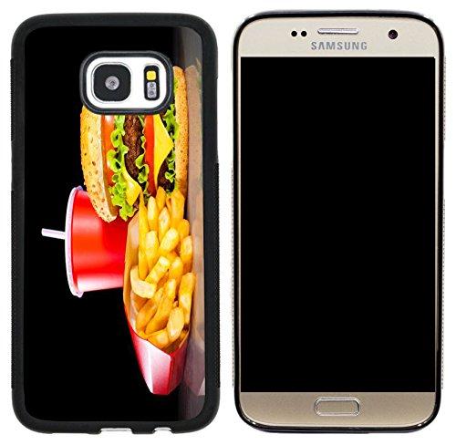 Rikki Knight Burgers and Coke Design Case Cover for Samsung Galaxy S7 - (Coke Design)