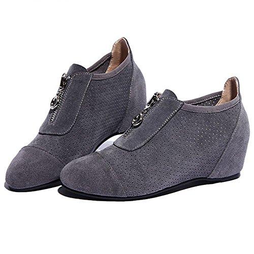 COOLCEPT Damen Pumps Flach Gemütlich Casual Schuhen Mode 2016 Grau