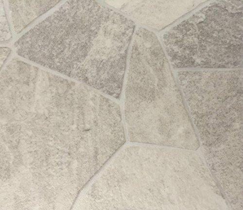PVC Vinyl-Bodenbelag in Bruchstein hell Optik | CV PVC-Belag verfügbar in der Breite 200 cm & Länge 350 cm | CV-Boden wird in benötigter Größe als Meterware geliefert | rutschhemmend & pflegeleicht