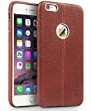 Vorson Apple iPhone 5 / 5s Lexza Series Double Stitch Leather Shell with Metallic Logo Display Back CoverCase-Brown