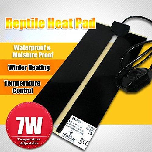 New 7W Reptile Heater Adjustable Temperature Heat Mat Pet Heating Warmer Pad 220-240V