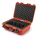 Nanuk 925 Waterproof Professional Gun Case, Military Approved with Custom Foam Insert for 4UP - Orange