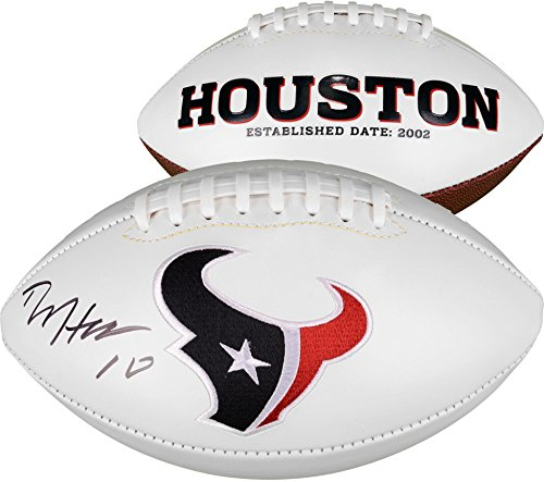 (DeAndre Hopkins Houston Texans Autographed White Panel Football - Fanatics Authentic Certified - Autographed Footballs)