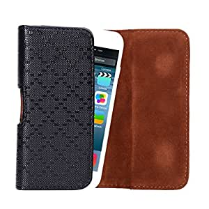 Crazy Panda New Mens Universal Leather Pocket Waist Packs Bag Wallet Purse Pouch beltbag fanny pack bum bag for Samsung Galaxy S3 S4 Iphone 6G 4.7 inch and Same Size (universal 5 inch)