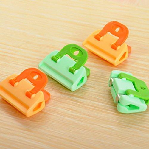 Clip di chiusura sacchetti BESTOMZ Chiudipacco pinze clip in plastica (8PCS)