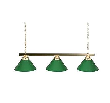 Amazon.com: 48 3 Lamp Billiard Pool Table Light W/ Plastic Green Shades By  Happ: Toys U0026 Games
