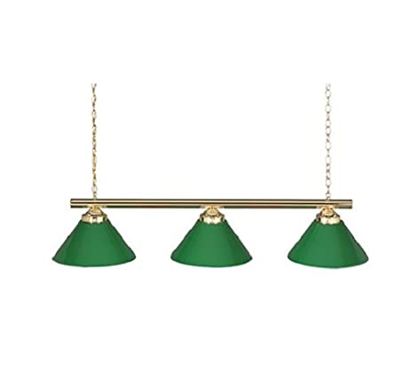 Amazon.com: 48 3 Lamp Billiard Pool Table Light w/ Plastic Green ...