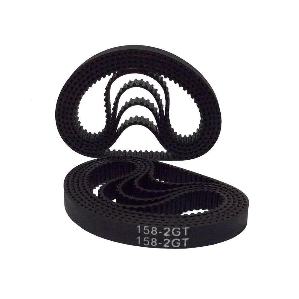 Width: 9mm, Length: 480mm, Number of Pcs: 5pcs Fevas 2GT-6 2//5//10PCS Rubber Timing Belt 406//410//430//444//450//460//466//480//488//494//500mm Length 6//9mm Width Timing Belt for 3D Printing