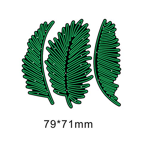 Palm Fronds Card Making Dies Stencils Scrapbooking Templates Embossing Mould Crafts Template Dies Cut for Album Paper Card Decor Craft