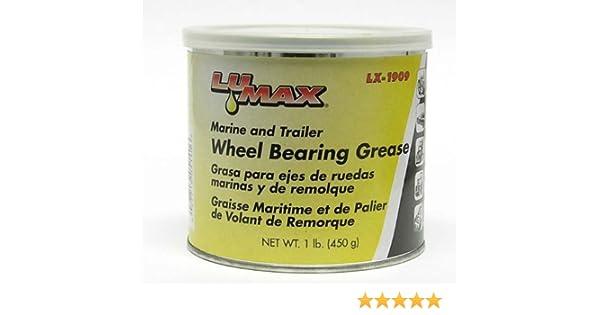 Amazon.com: Lumax LX-1909 Blue High Temparature Disc Brake Wheel Bearing Grease Tube - 1 lb.: Automotive