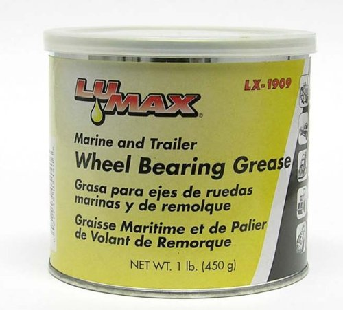 Lumax LX-1909 Blue High Temparature Disc Brake Wheel Bearing Grease Tube - 1 lb.