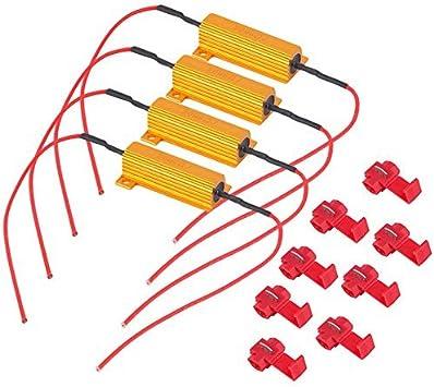 2x 1156 3157 LED 50W 6 Ohm Resistors For Hyper Flash Turn Signal Blink Blinker