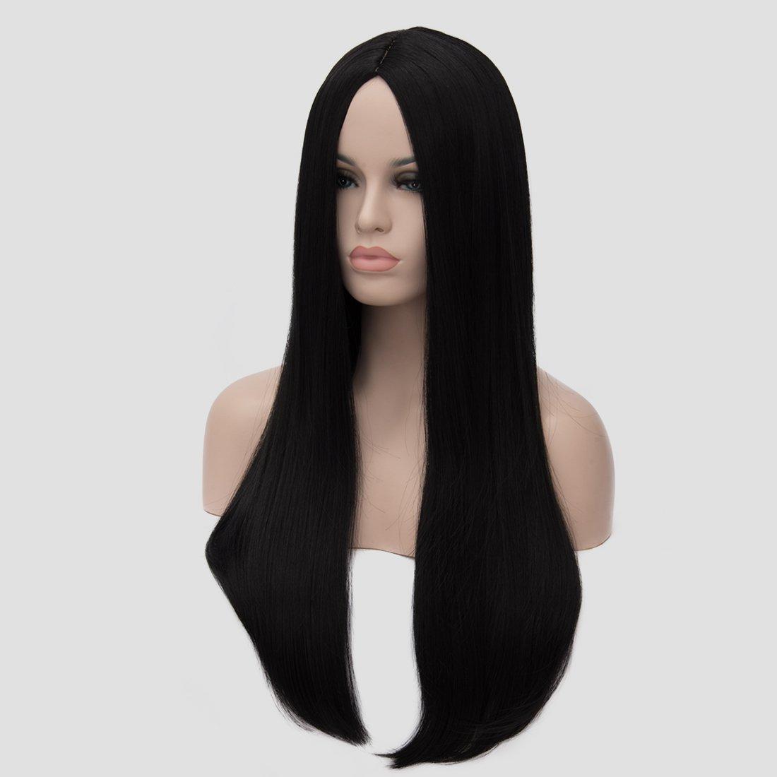 Amazon.com   Aosler Women s Black Long Wig 4480c7abc0