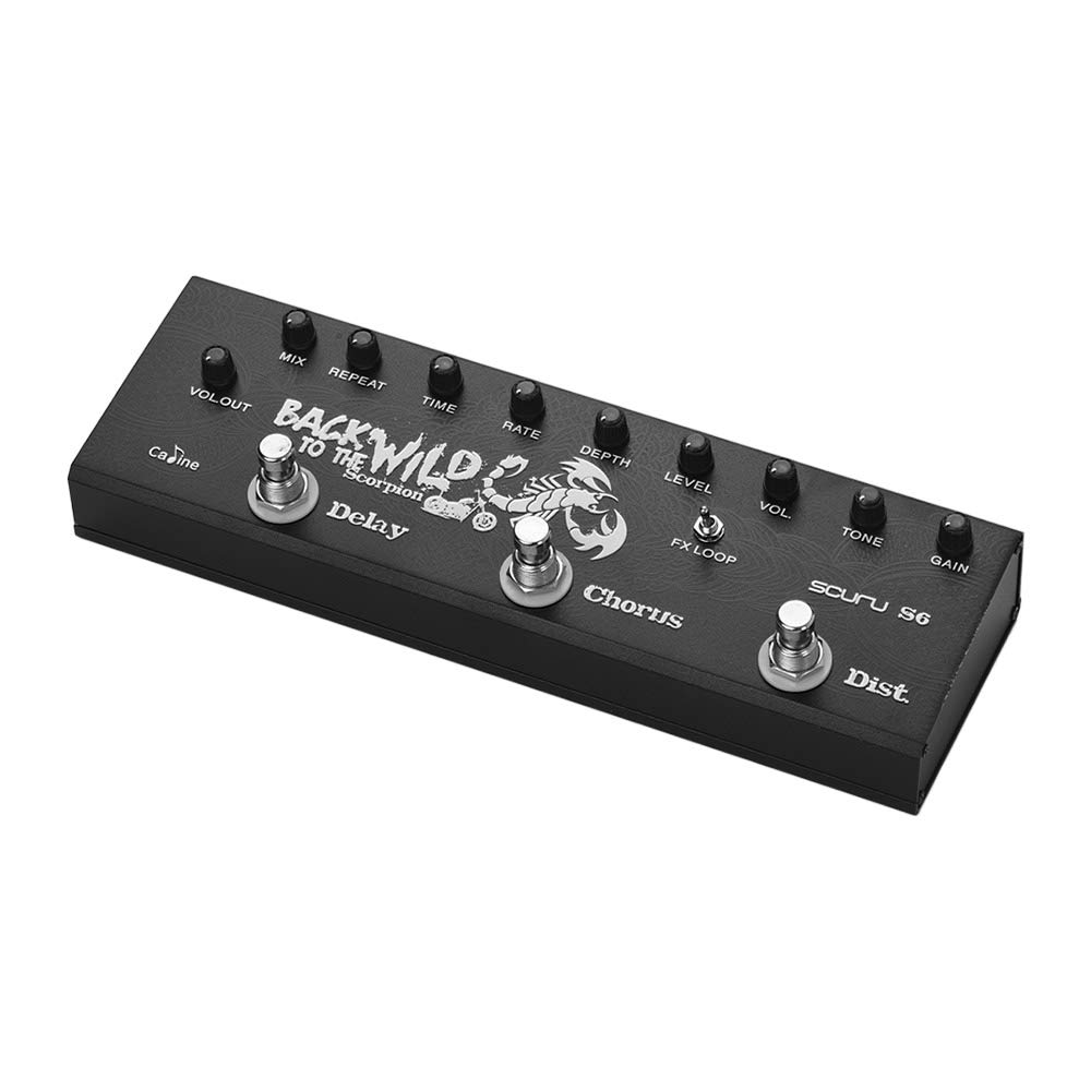 Festnight Caline SCURU S6 3-in-1 Electric Guitar Pedal Multieffect Pedal Delay Chorus Distortions Guitar Effects Pedals