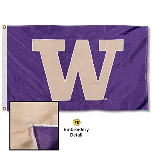 - Washington Huskies Embroidered and Stitched Nylon Flag