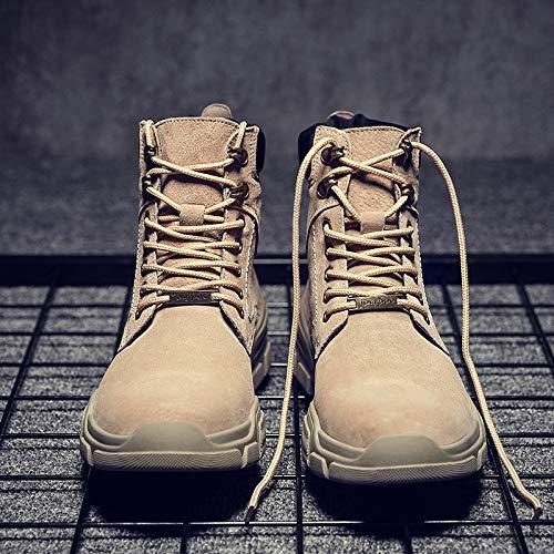 LOVDRAM Stiefel Männer Martin Stiefel Herrenmode Kurze Stiefel Mode Wild In Der Wüste Stiefel Hohe Hilfe Werkzeug Stiefel Männer