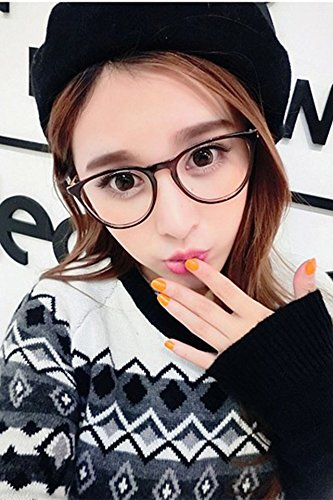 Generic Charmant new literary personality round retro plain mirror man boy and women girls lady models Beautiful with eyeglasses frame glasses can by Generic