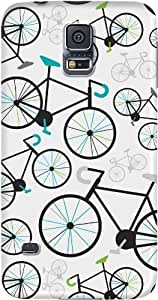 DailyObjects Boy Bikes Case For Samsung Galaxy S5 (Back Cover) White/Cream