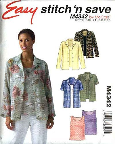 (McCall's Patterns M4342. Easy stitch 'n save, Misses' Shirts & Top)