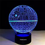 3D Illusion Platform Star Wars Night Lighting,Terrosol Touch Botton 7 Color Change Decor LED Lamp