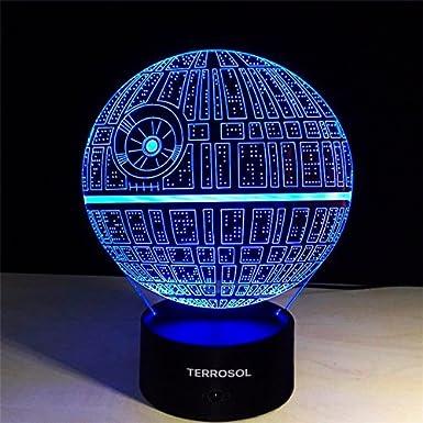 25197bd6498 Amazon.com  Terrosol 3D Illusion Platform Star Wars Night Lighting ...