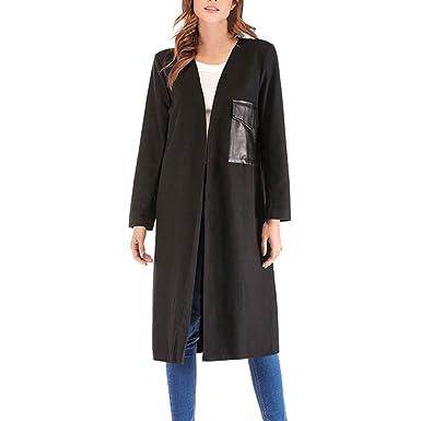 Ziyou Winter Mantel Damen Damen Langer Mantel Schwarz Mode Outdoor