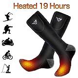 Gamegie Battery Heated Socks - Rechargeable Heating Socks, Winter Electric Thermal Socks Foot Warmers for Men Women Sport Outdoor (Black XL)