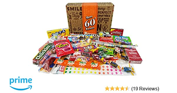 Amazon VINTAGE CANDY CO 60TH BIRTHDAY RETRO CANDY GIFT BOX