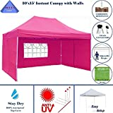 10'x15′ Ez Pop up Canopy Party Tent Instant Gazebos 100% Waterproof Top with 4 Removable Sides Pink – E Model By DELTA Canopies For Sale