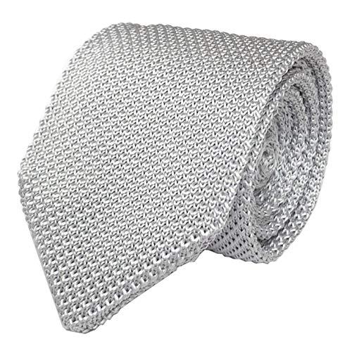 (Secdtie Men Vintage Casual Formal Grey Skinny Knit Tie Knitting Narrow Necktie 012)