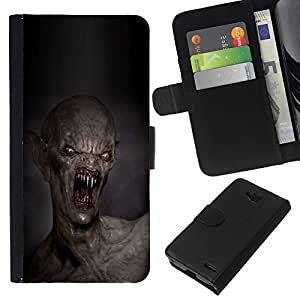 Leather Etui en cuir || LG OPTIMUS L90 || Dientes Kill Monstruo Muerte Creepy @XPTECH