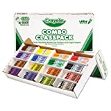 Classpack Crayons w/Markers, 8 Colors, 128 Each Crayons/Markers, 256/Box, Sold as 1 Each