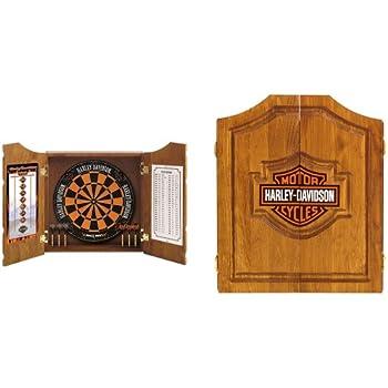 Harley Davidson Dart Board Cabinet