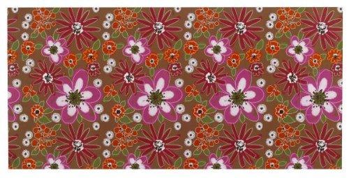 Just My Locker - Wallpaper - White/Pink/Orange Flowers (Brown ()
