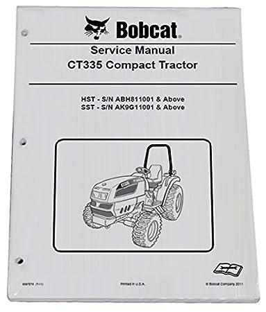 amazon com bobcat ct335 compact tractor repair workshop service rh amazon com Images Bobcat Manual Bobcat Parts